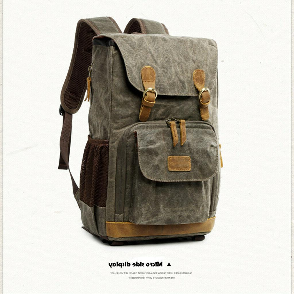 Vintage Photography Backpack Photography Canvas Side Waterproof