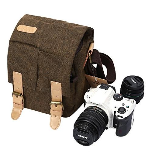 S-ZONE Canvas DSLR SLR Shockproof