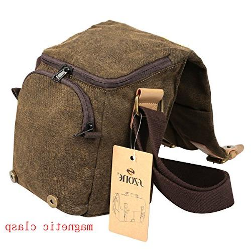 S-ZONE Vintage Canvas SLR Messenger