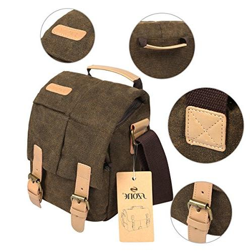 S-ZONE Vintage Small Canvas SLR Camera Messenger
