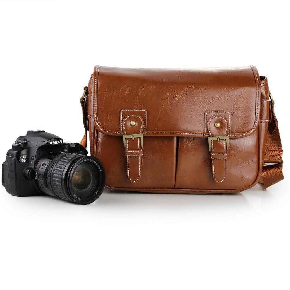 Koolertron Leather DSLR Lens Case Shoulder