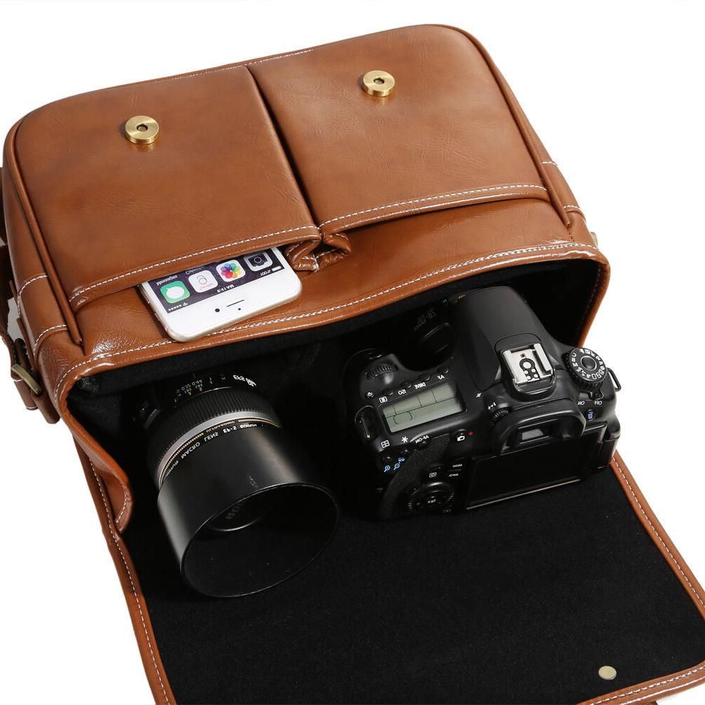 Koolertron Waterproof Vintage Leather DSLR Lens
