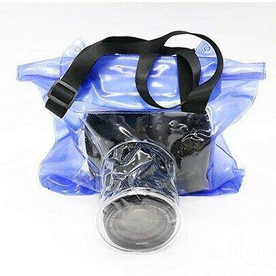 Waterproof Camera Case Transparent Dust-proof Protective With Strap