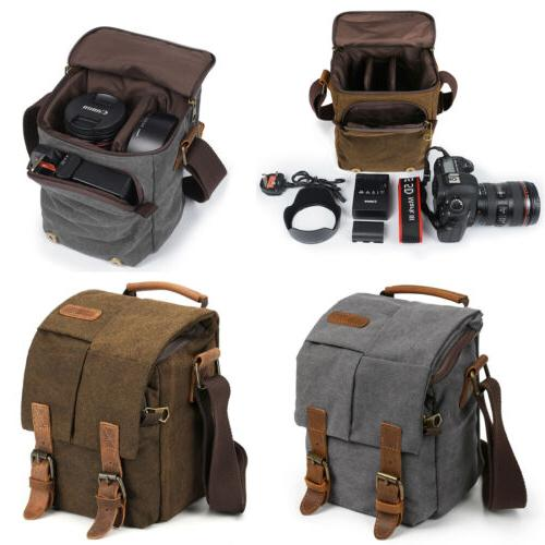 waterproof canvas leather trim dslr slr camera