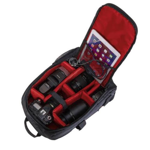 Waterproof Large DSLR Backpack Photography Accessories Bag 17*12*6