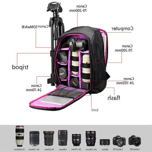 Large DSLR Waterproof Nylon Camera Notebook