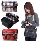 Women Camera Bag Shoulder Bag Lens Padded Case For Canon Nik