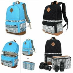 Women's Shockproof  DSLR Camera Bag Insert Case Travel Backp