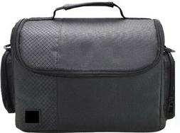 Large Deluxe Camera Video Case Bag for Nikon D3100 D3200 D34