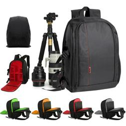 Large DSLR Camera Case Backpack Bag DIY Compartment For Cano