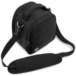 VanGoddy Laurel Onyx Black Carrying Case Bag for Nikon CoolP