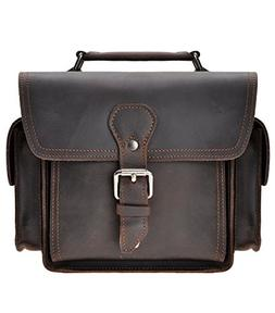Leather Camera Bag ZLYC Vintage DSLR SLR Bag Removable Shock