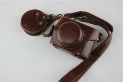 Leather case bag grip for For Olympus PEN E-PL9 EPL9 camera