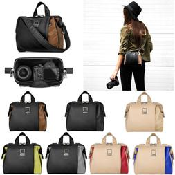 Lencca Leather DSLR Camera Shoulder Bag Carry Case For Canon