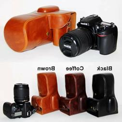 Leather Hard camera case bag cover Grip for Nikon D7100 D720