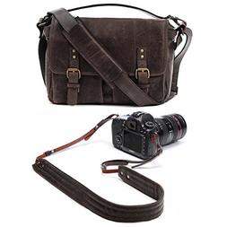 Ona Leather Prince Street Camera/Laptop Messenger Bag  and P