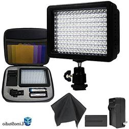 Limo160 Led Lamp Panel Dimmable For Dslr Camera Dv Camcorder
