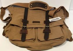 "GEARONIC Mens Canvas Leather Messenger Bag for 14"" 17"" Lapto"