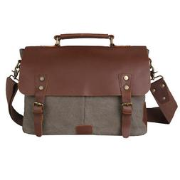 Kattee Messenger Bag School Shoulder Bag Men's Vintage Cross