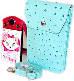 PDXD-share Mini PU Leather Carrying Case Bag for Cell Phone,