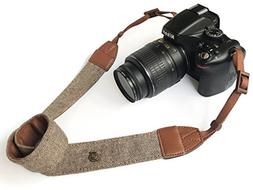 Camera Neck Shoulder Belt Strap,Alled Leather Vintage Print