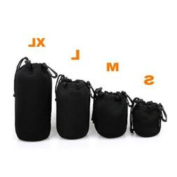 Neoprene Camera Lens Pouch Soft Bag Case Protector For Canon