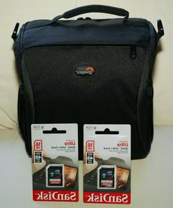 NEW LOWEPRO FORMAT 160 BAG for NIKON,CANON,OLYMPUS,with Stra