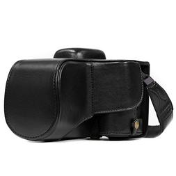 MegaGear Nikon D3400  Ever Ready Leather Camera Case and Str
