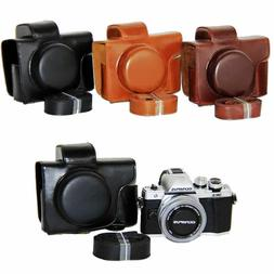 For Olympus E-M10 Mark II EM10 II MarkII  PU leather Camera
