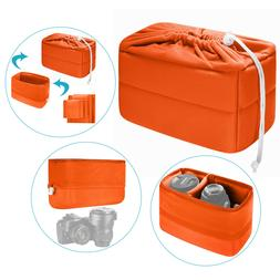 Neewer Orange Padded Partition Insert Protective Camera Bag