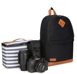 Kattee Professional Canvas SLR DSLR Camera Backpack/ Laptop