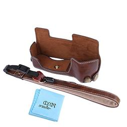 PDXD-share PU Leather Half Camera Case Bag Cover Base for Ol