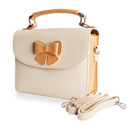 Hengyun PU Leather Instant Camera Case for Women with Should