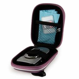 Purple Compact Digital Camera Case Carrying Bag For Canon Po