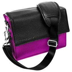 Purple Travel Essential Carrying Case for Sony Cbyer-shot/Al