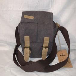 S-ZONE Waterproof Camera Bag Canvas Leather Trim Compatible