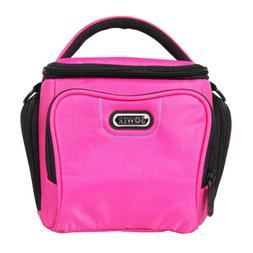 New Bower SCB3700 Pink Camera Bag For Canon, Nikon, Sony Oly