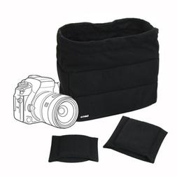 Shockproof DSLR SLR Camera Bag Partition Padding Case Lens I