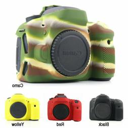 Silicone Rubber Bag Body Cover Case Skin For Canon EOS 80D C