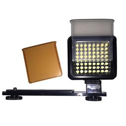 Sima SL-300LXi Pro LED Video Light with Filters 64 LEDs/800