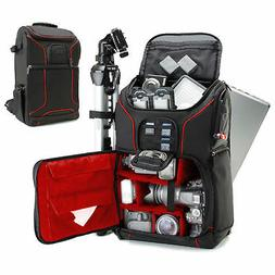 Digital SLR Camera Backpack with Laptop Compartment , Rain C