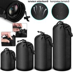 soft neoprene lens pouch protective carry bag