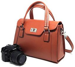 SPECIAL OFFER: Purple Relic DSLR Camera Bag for Women; 8-Poc