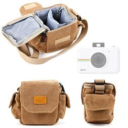 DURAGADGET Tan-Brown Small Sized Canvas Carry Bag for the NE