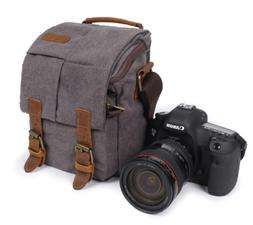 Vintage Canvas DSLR Camera Bag Messenger Shoulder Bag For Ca