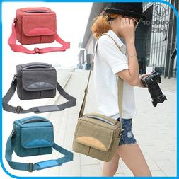 Vintage Digital Camera Bag Retro Women Canvas Single Shoulde