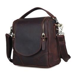 Vintage Leather Camera Bag For Canon Nikon DSLR Shoulder Mes