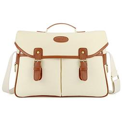 Kattee Fashion PU Leather Canvas DSLR Camera Shoulder Bag fo