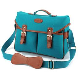 Kattee Vintage PU Leather/ Canvas DSLR Camera Shoulder Bag f