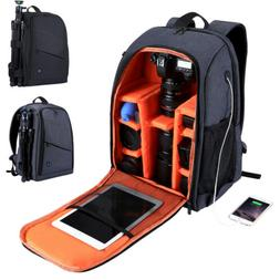 Travel Waterproof DSLR SLR Camera Bag Backpack Accessories F